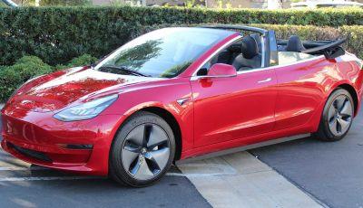 Tesla Model 3: negli Stati Uniti si può trasformare in Cabriolet!