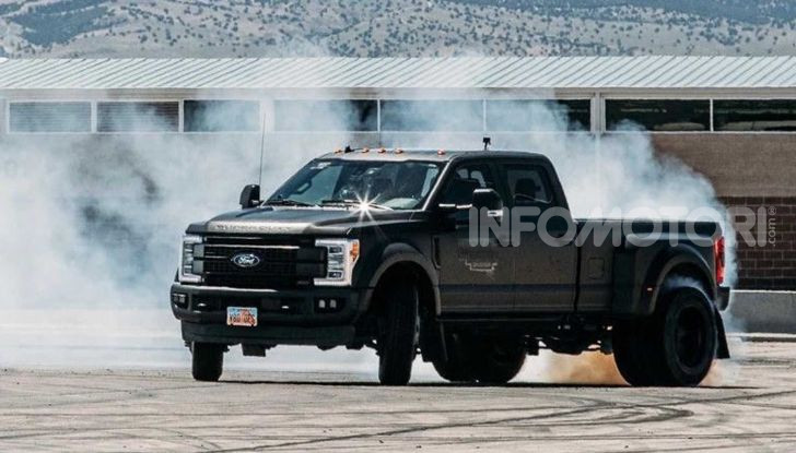 Ken Block drifting pick up Ford F450