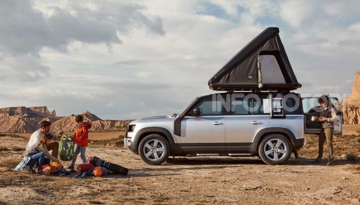 Land Rover Defender 110 tenda tetto rooftop Autohome