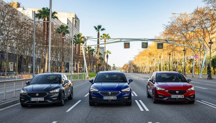 Seat Leon 2020 grey blue red