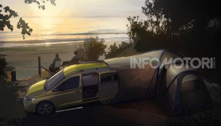 Volkswagen: ecco le prime immagini del nuovo mini-camper - Foto 2 di 3