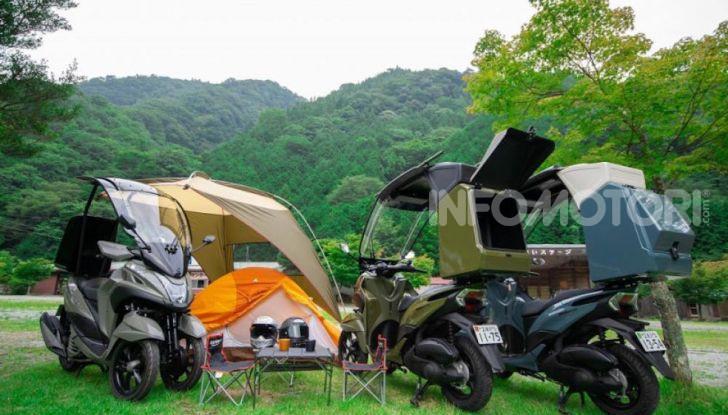 Yamaha Tricity diventa uno scooter da campeggio - Foto 6 di 9