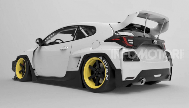 Toyota Yaris diventa una macchina da corsa col kit Rocket Bunny - Foto 1 di 6
