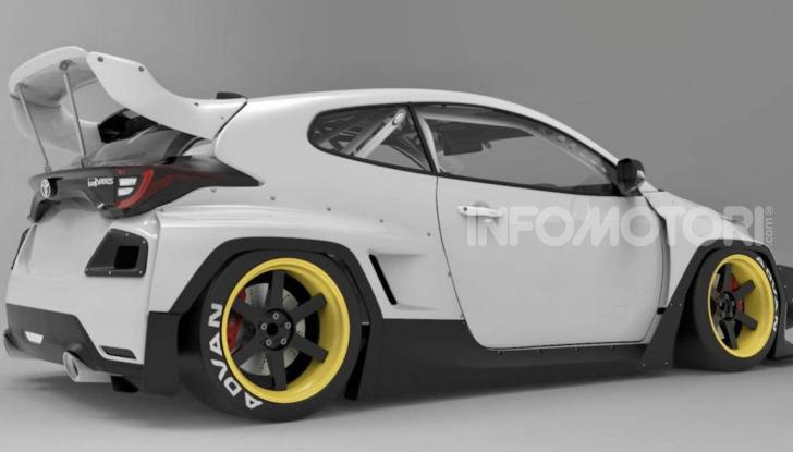 Toyota Yaris diventa una macchina da corsa col kit Rocket Bunny - Foto 2 di 6