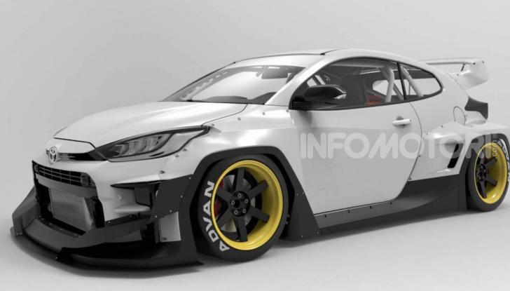 Toyota Yaris diventa una macchina da corsa col kit Rocket Bunny - Foto 4 di 6
