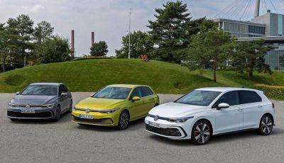Volkswagen Golf: arrivano le versioni mild hybrid e ibride plug-in