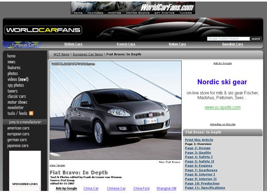 Ultimissime: Fiat nuova Bravo - Foto 1 di 4