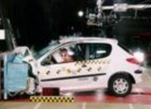 Crash test Peugeot 206 berlina