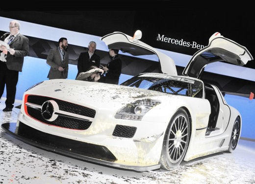 Mercedes SLS AMG GT3 al Salone di New York 2010
