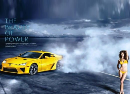 Lexus LFA drifting con top model
