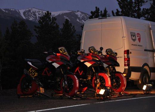 In sella alla Ducati Multistrada S sul percorso della Pikes Peak International Hill Climb