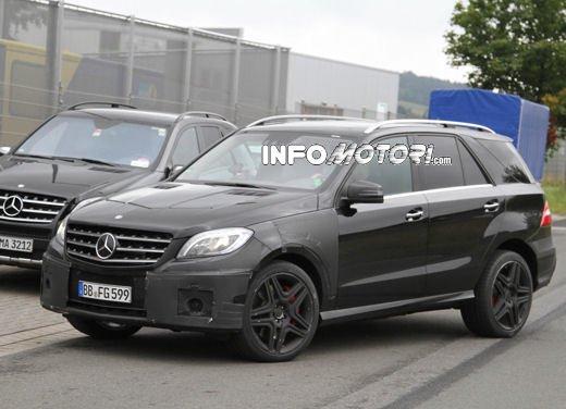 Mercedes ML 63 AMG nuove foto del SUV V8 da 510 CV