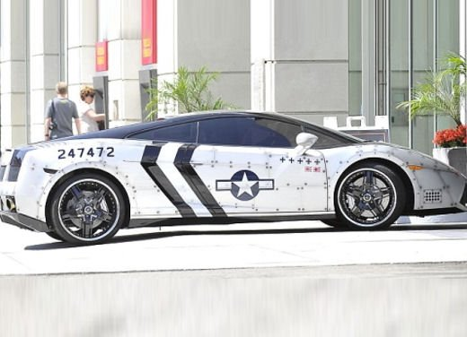 Lamborghini Gallardo Fighter Jet di Chris Brown