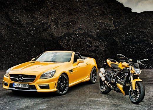 Mercedes SLK 55 AMG Streetfighter Yellow - Foto 3 di 16