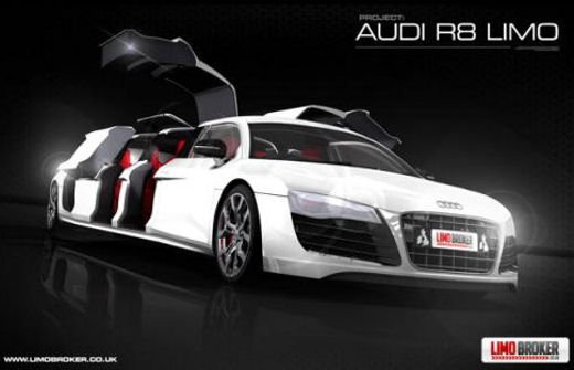 Audi R8 Limousine by Limo Broker