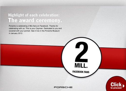 Porsche Cayman S per festeggiare 2 milioni di fan su Facebook - Foto 10 di 10