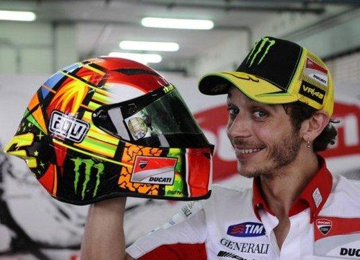 Il casco AGV Pista GP di Valentino Rossi presentato venerdì 23 marzo