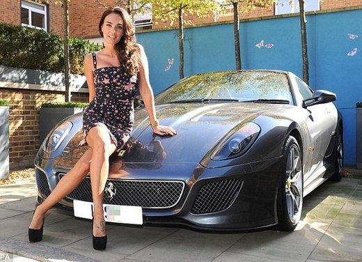 Tamara Ecclestone e la Ferrari 599 GTB
