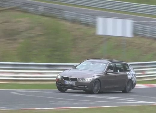 BMW Serie 3 Touring video spia al Nürburgring