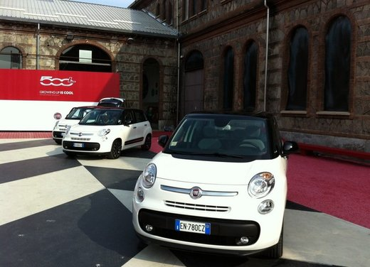 Fiat 500 L presentata a Torino