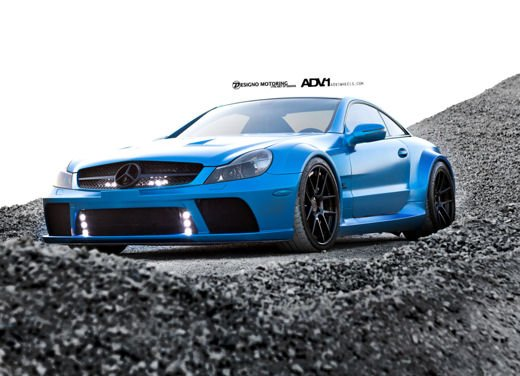 Mercedes SL65 AMG Black Series tuning by ADV - Foto 2 di 11