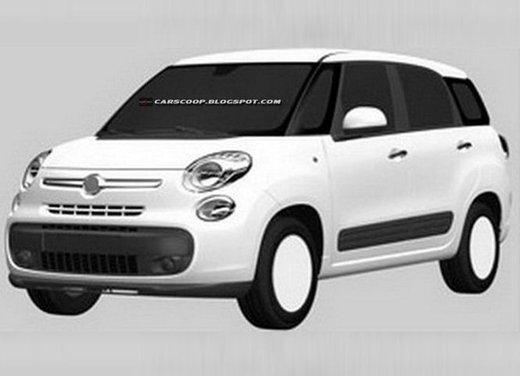 Nuova Fiat 500 XL a sette posti, prime immagini per il brevetto