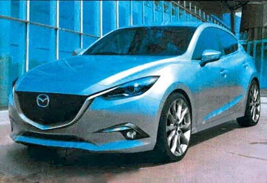 Mazda3 nuove foto spia della berlina giapponese