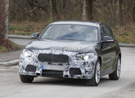 BMW Serie 1 prime foto spia del restyling - Foto 1 di 7