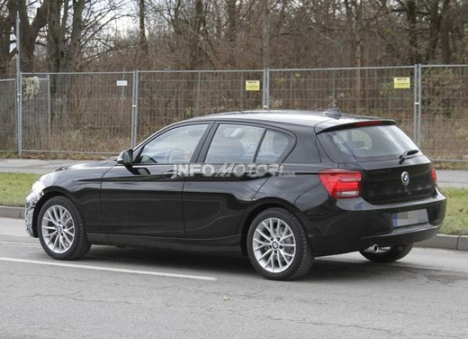 BMW Serie 1 prime foto spia del restyling - Foto 5 di 7