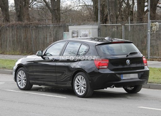 BMW Serie 1 prime foto spia del restyling - Foto 6 di 7