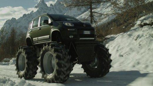 Fiat Panda 4×4 test drive sulla neve in occasione di Fiat Winter Fun - Foto 10 di 34