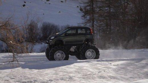 Fiat Panda 4×4 test drive sulla neve in occasione di Fiat Winter Fun - Foto 13 di 34