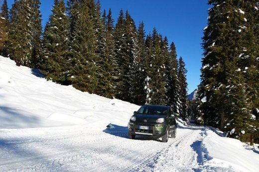 Fiat Panda 4×4 test drive sulla neve in occasione di Fiat Winter Fun - Foto 2 di 34