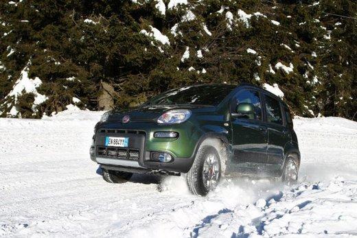Fiat Panda 4×4 test drive sulla neve in occasione di Fiat Winter Fun - Foto 24 di 34