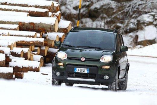 Fiat Panda 4×4 test drive sulla neve in occasione di Fiat Winter Fun - Foto 26 di 34