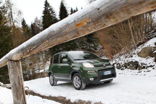 Fiat Panda 4×4 test drive sulla neve in occasione di Fiat Winter Fun - Foto 28 di 34