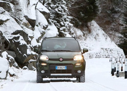Fiat Panda 4×4 test drive sulla neve in occasione di Fiat Winter Fun - Foto 32 di 34