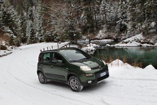 Fiat Panda 4×4 test drive sulla neve in occasione di Fiat Winter Fun - Foto 33 di 34