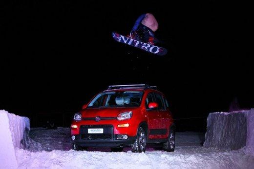 Fiat Panda 4×4 test drive sulla neve in occasione di Fiat Winter Fun - Foto 5 di 34