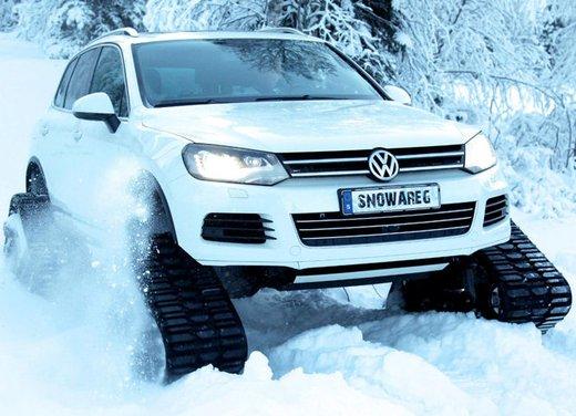 Volkswagen Touareg diventa un gatto delle nevi