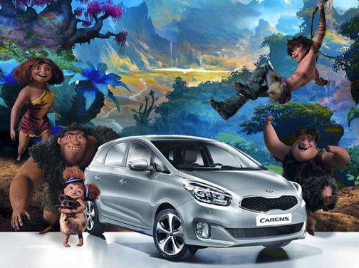 """Kia Carens partner de """"I Croods"""", film d'animazione della 20th Century Fox"""
