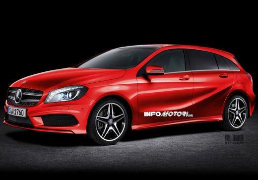 Mercedes CLA Shooting Brake: il rendering di Infomotori della CLA station wagon