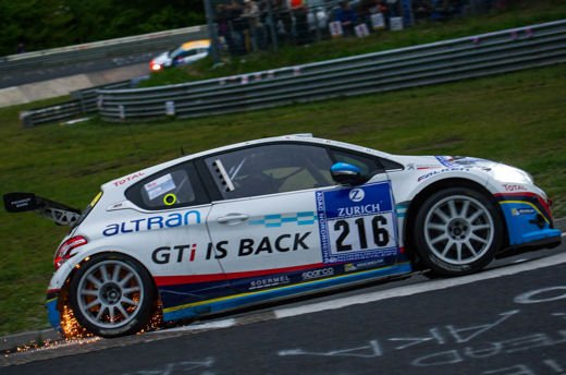 Le Peugeot 208 GTi trionfano alla 24 Ore del Nurburgring