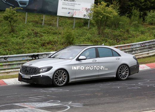 Mercedes S63 AMG nuove foto spia dall'Inferno Verde
