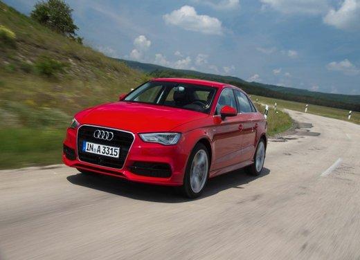 Audi A3 Sedan prova su strada della nuova variante Audi A3 berlina