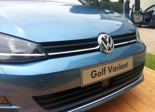 Volkswagen Golf Variant prova su strada della Golf 7 Station Wagon - Foto 2 di 14