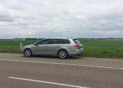 Volkswagen Golf Variant prova su strada della Golf 7 Station Wagon - Foto 4 di 14
