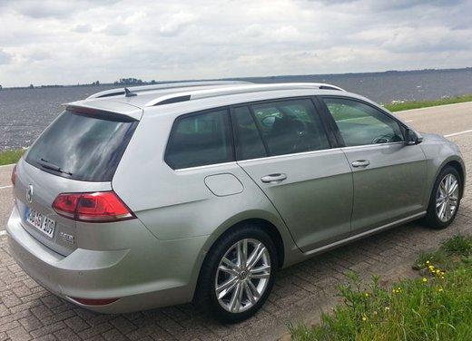 Volkswagen Golf Variant prova su strada della Golf 7 Station Wagon - Foto 5 di 14