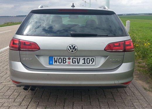 Volkswagen Golf Variant prova su strada della Golf 7 Station Wagon - Foto 8 di 14