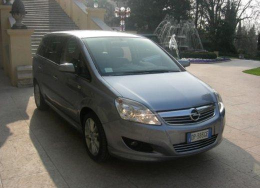 Opel Zafira, prestazioni e consumi della versione a metano